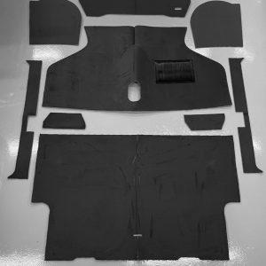 Tapijtset de luxe 9 delig zwart Classic-MINI